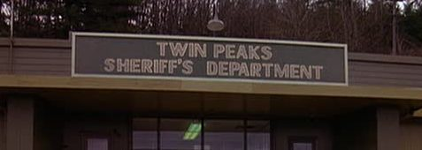 Old Twin Peaks Sheriff's Department sign