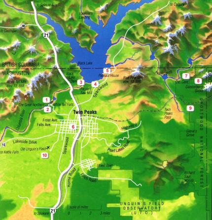 Twin Peaks overview map
